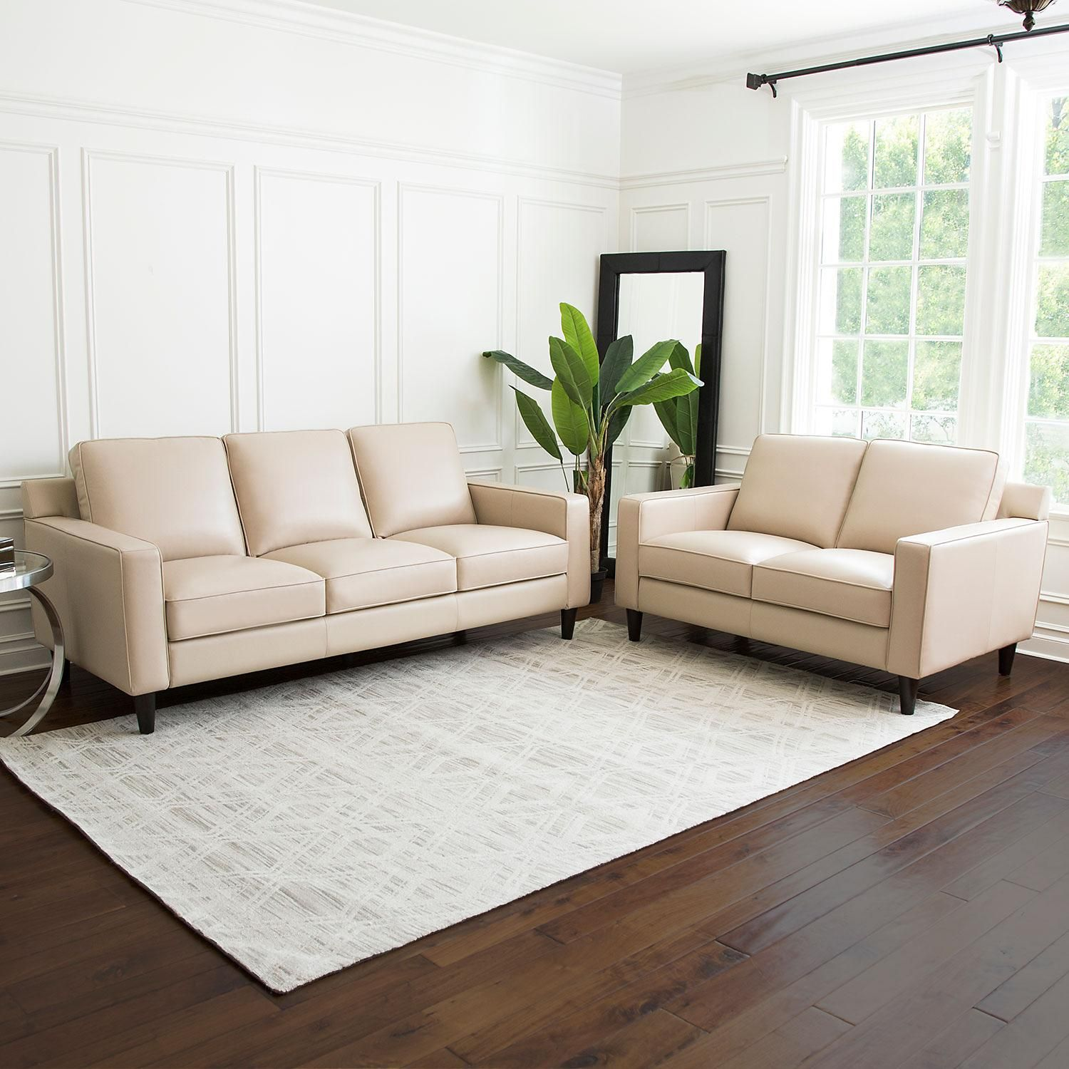 Kennedy Top Grain Leather Loveseat And Sofa Gray Or Cream Sam S Club Leather Living Room Set Living Room Leather Living Room Sets #sams #living #room #furniture