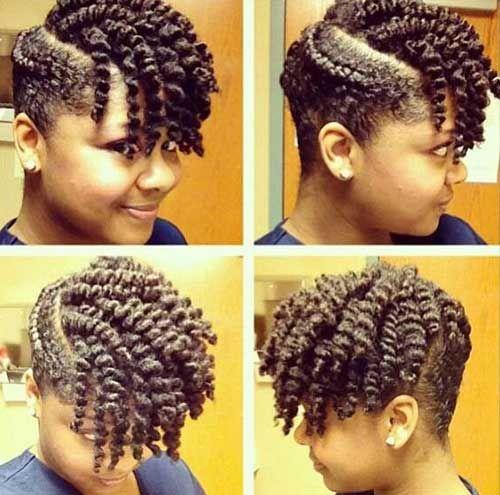 Twist Out Short Hair For Cute Black Girl Natural Hair Twists Hair Styles Natural Hair Updo