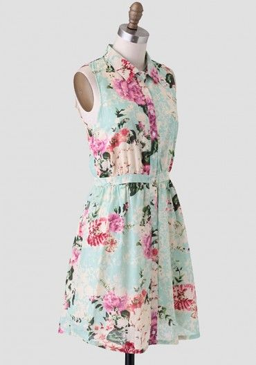 A Fine Lady Floral Dress By Tulle Modern Vintage Dress Vintage Dresses Womens Floral Dress