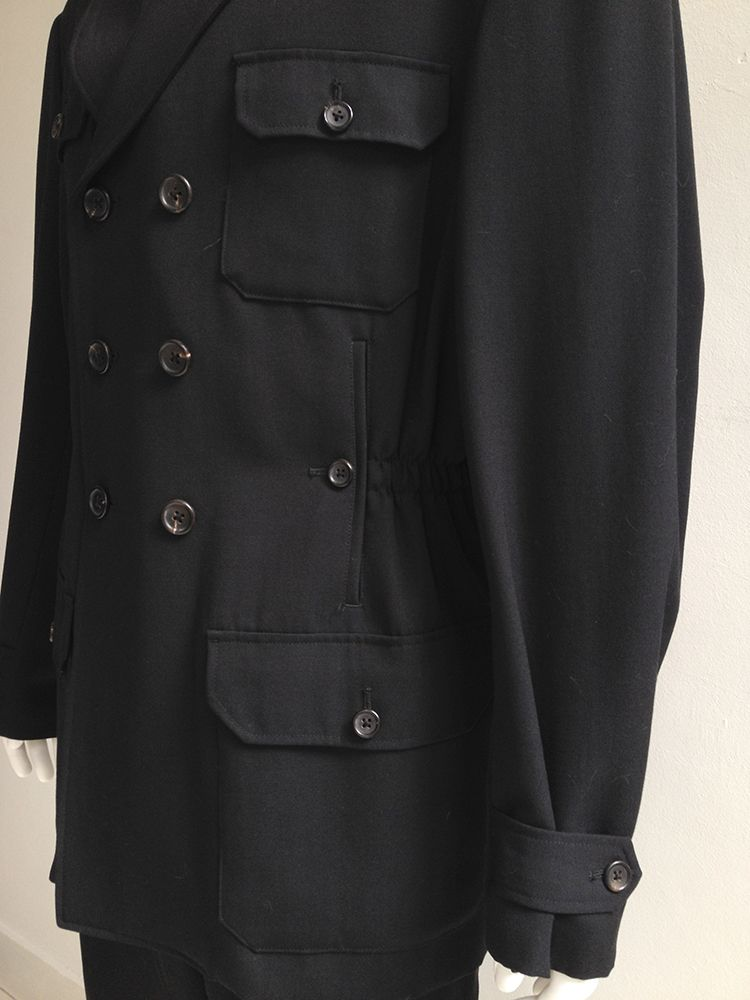 07f7fbd3 Yohji Yamamoto pour Homme black pocket coat — 80s in 2019 | detail ...