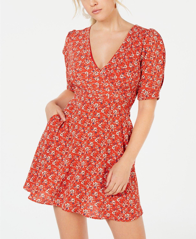 Speechless Juniors Printed Puff Sleeve Dress Dresses Juniors Macy S Puffed Sleeves Dress Dresses With Sleeves Junior Dresses [ 1500 x 1230 Pixel ]