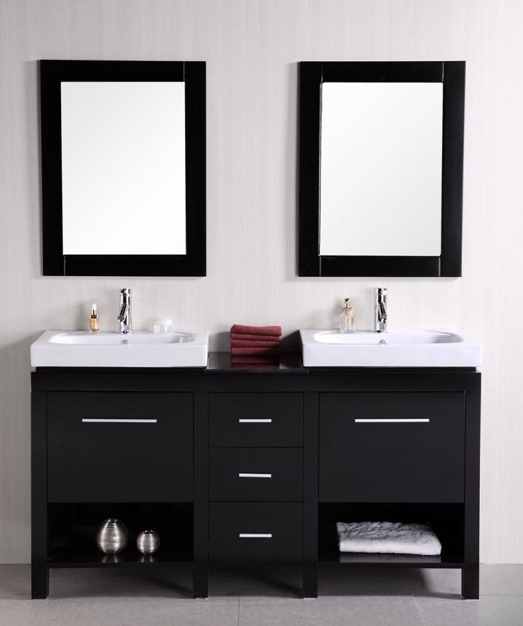 Shop small double sink vanities 47 to 60 inches with free - Small double sink bathroom vanities ...