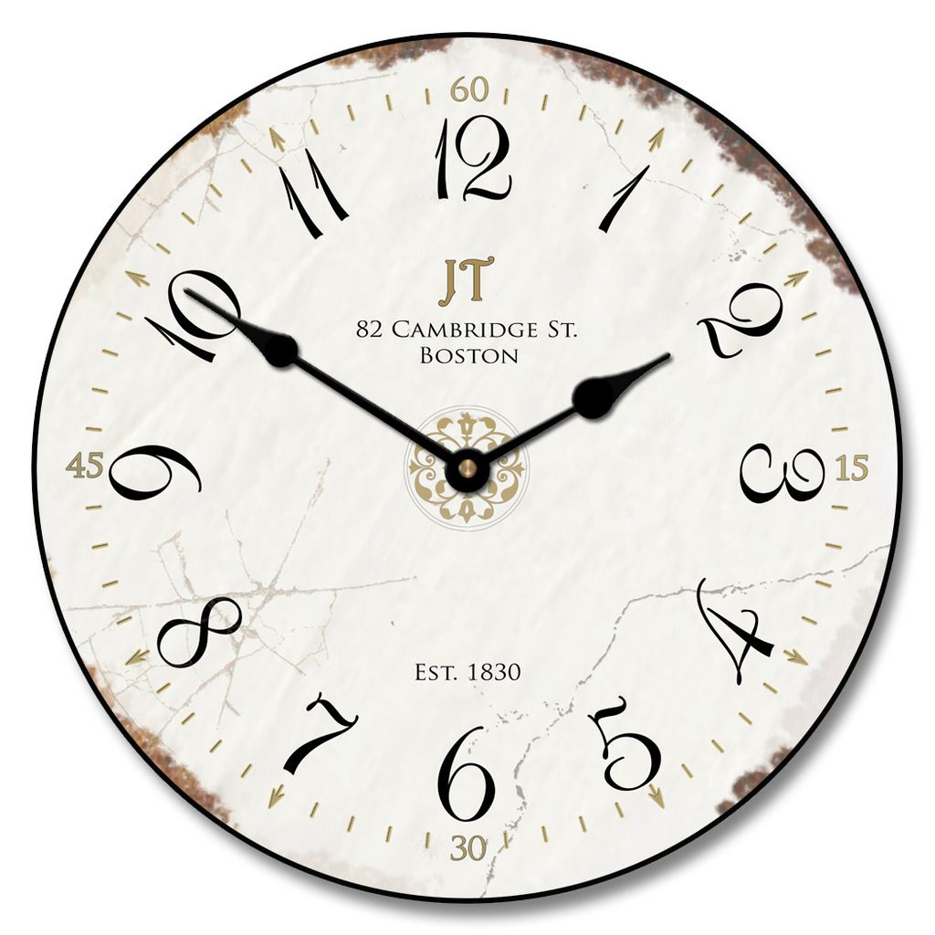 Vintage White Wall Clock Home Decor Classic Style Home Decor White Wall Clocks White Clocks Vintage White Clocks