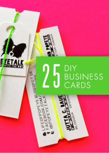 Stand out with 25 diy business cards visitekaartjes papier en doe take your networking to the next level with 25 diy business cards reheart Image collections