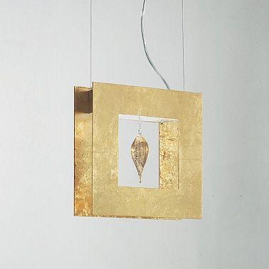 Светильник из муранского стекла с покрытием из сусального золота фабрики Masiero.