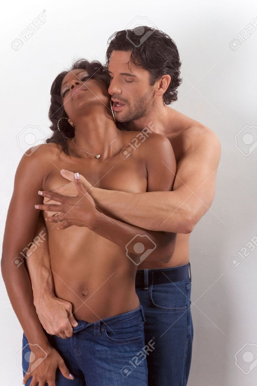 fat man and woman kissing naked