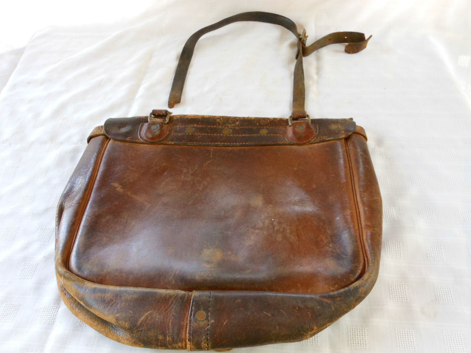 ANTIQUE / VINTAGE POSTAL MAIL BAG SATCHEL LEATHER USPS
