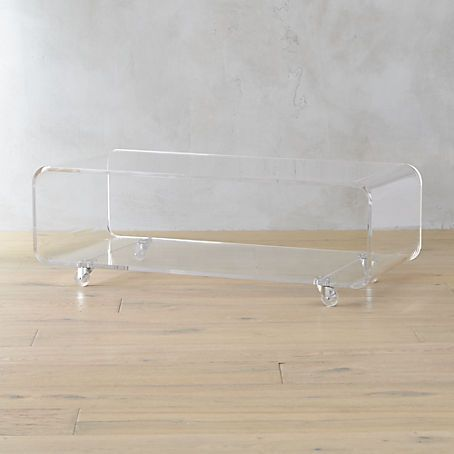 Peekaboo Acrylic Coffee Table  Coffee Tables and End Tables  Clear coffee table, Contemporary