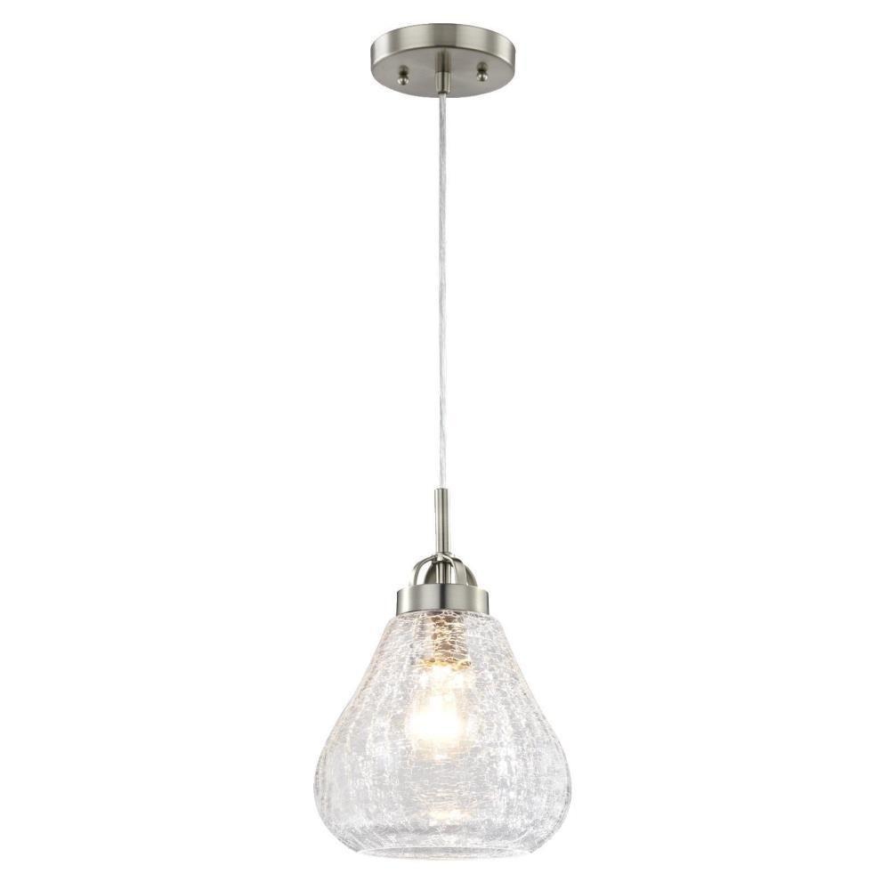 Westinghouse 1 Light Brushed Nickel Mini Pendant 6309100 The
