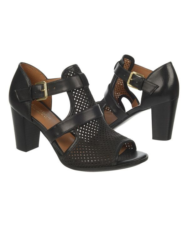 a8fbef94cba Look at this Black Draft Leather Sandal on  zulily today! Naturalizer  Shoes