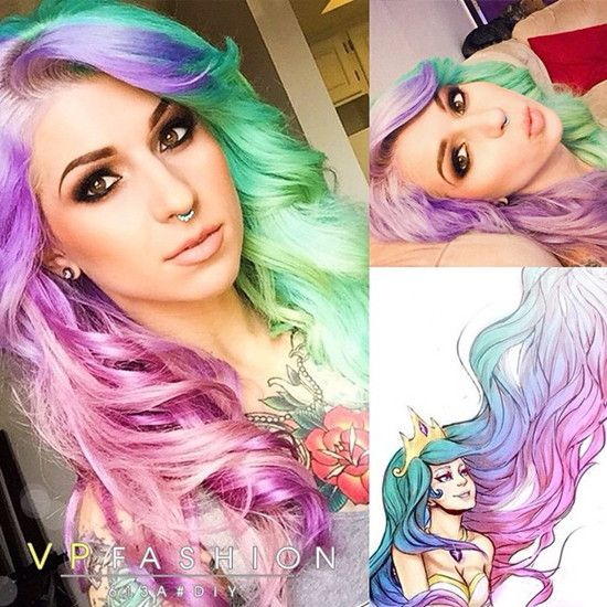 10 Rainbow Pastel Hair Colors Styles for Christmas Day - | Pastel ...