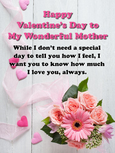 I Love You Happy Valentine S Day Card For Mother Birthday Greeting Cards By Davia In 2020 Happy Valentine Happy Valentines Day Mom Happy Valentines Day