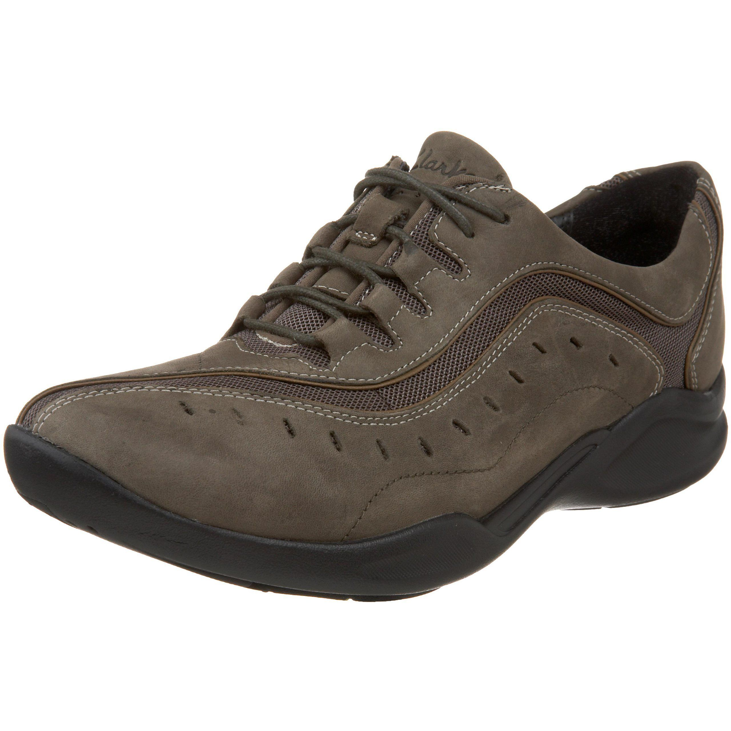 Clarks Women's Wave.Wheel Sneaker,Olive Nubuck,5 M US. Removable dual