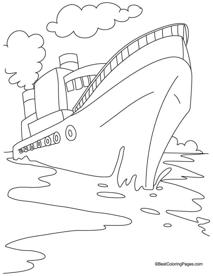 Ship Coloring Page 7