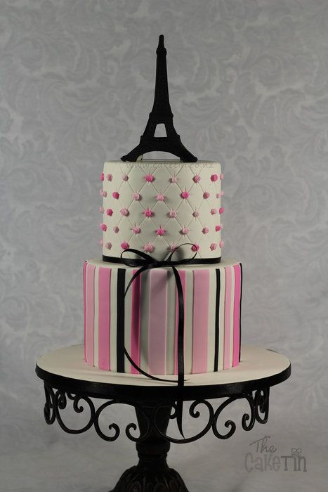 Paris Themed First Birthday Cake By The Cake Tin Cakesdecor