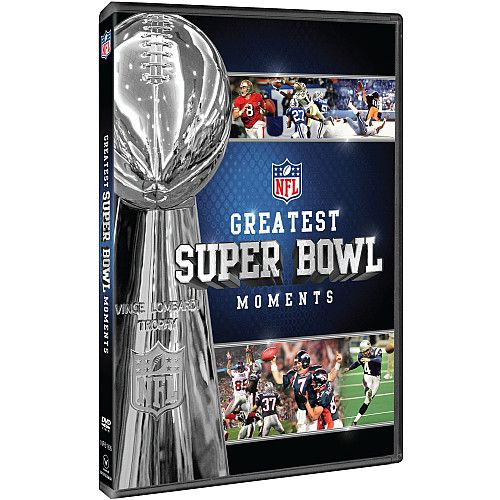This Greatest Super Bowl Moments DVD documents many of the most memorable plays from the first 45 years of the NFL's supreme game. This exciting DVD uses footage from NFL Films and wires the players to put the viewer directly in the action.