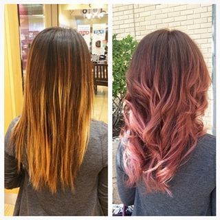 Dusty Pink Balayage Google Search