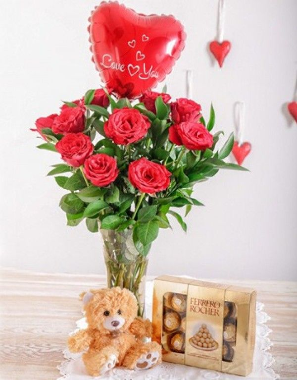 The Whole Nine Yards Valentine S Day Flowers Gifts Valentines