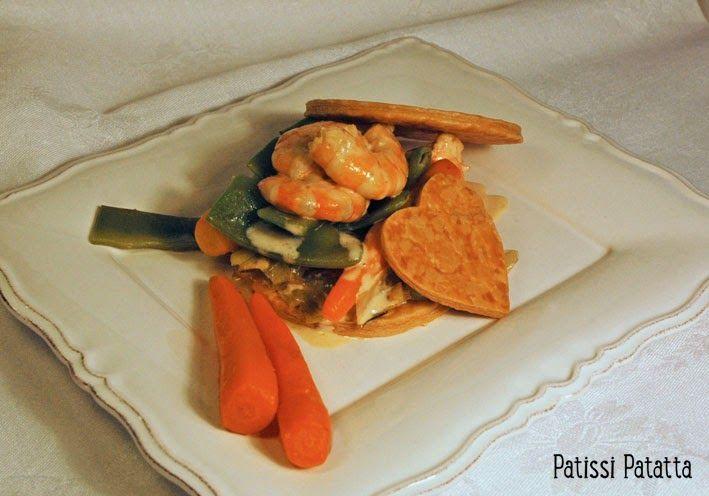 patissi patatta: Crevettes et légumes en feuilleté