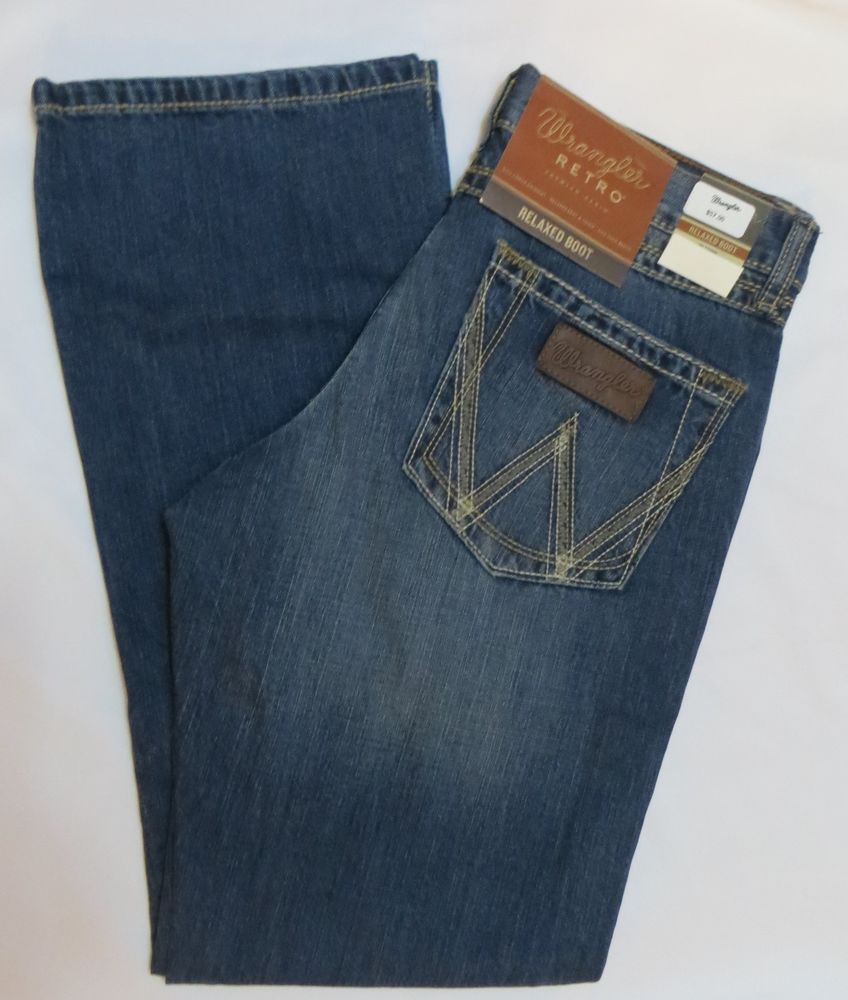 0758328c WRANGLER WLT20BR Mens JEANS RETRO RELAXED FIT BOOT CUT NWT #WRANGLER # BootCut