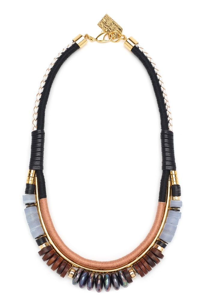 Lizzie Fortunato necklace. Available at Serafina. Inquiries: Info@shopserafina.com 626.799.9899