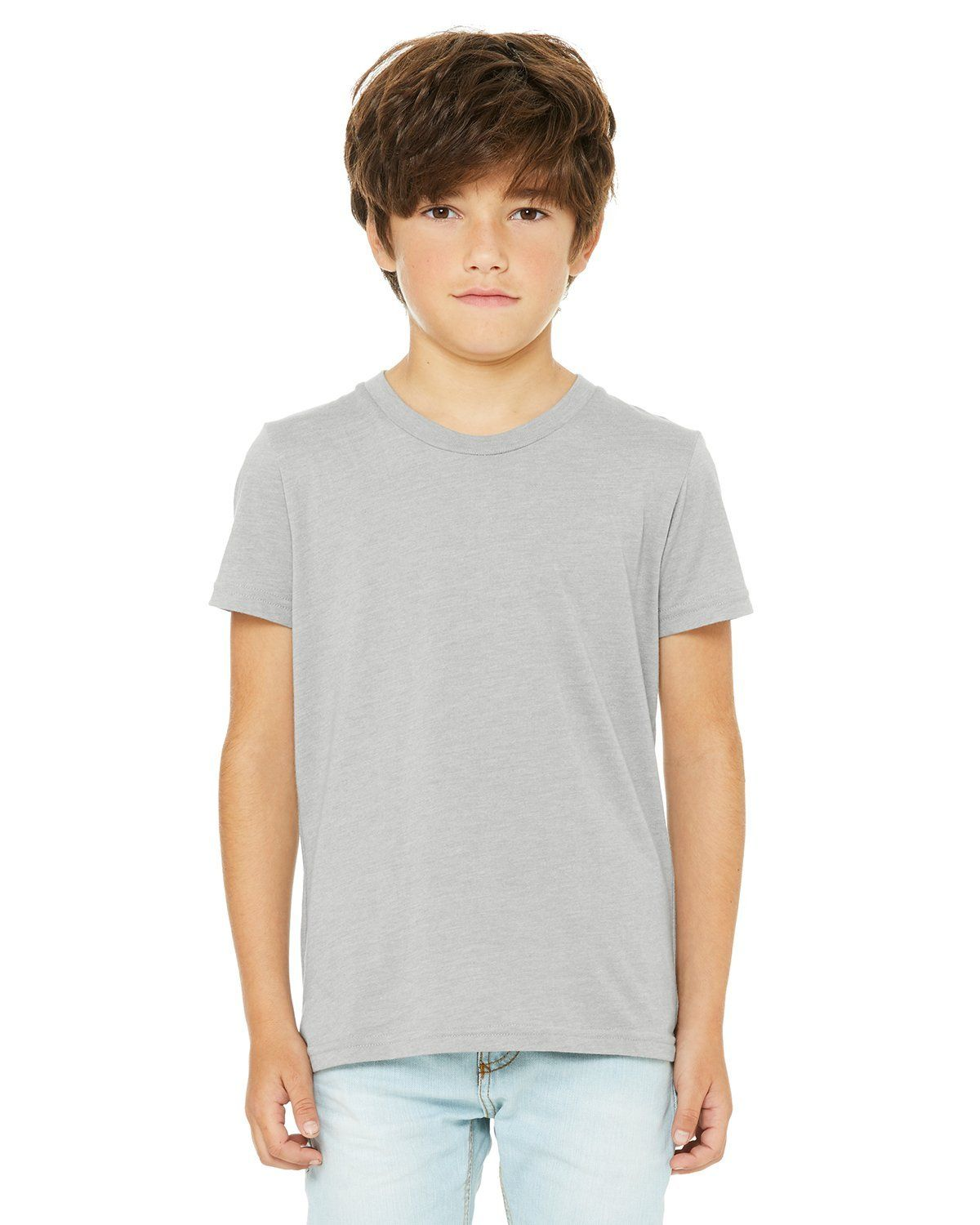 c3a8af3c Bella + Canvas Youth Jersey Short Sleeve T-Shirt 3001Y Heather Stone ...