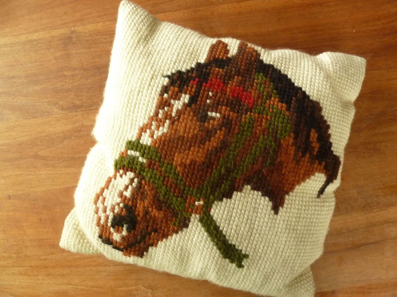 Een persoonlijke favoriet uit mijn Etsy shop https://www.etsy.com/listing/156564040/vtg-mister-ed-cushion-pillow-hand-cross