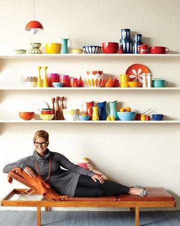 Lisa Congdon with her Scandinavian enamelware.