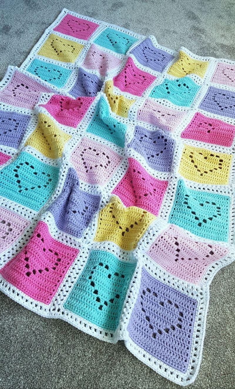 Lovely Filet Crochet Baby Blankets