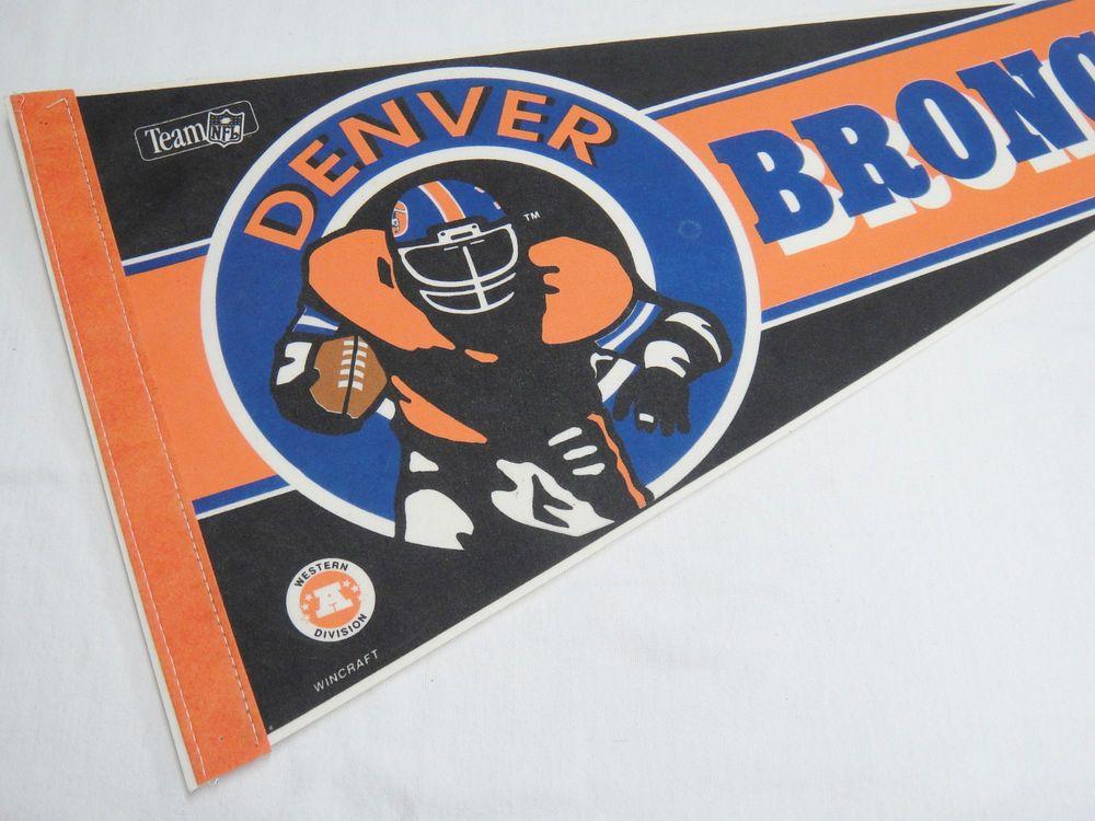Denver broncos football pennant nfl western division