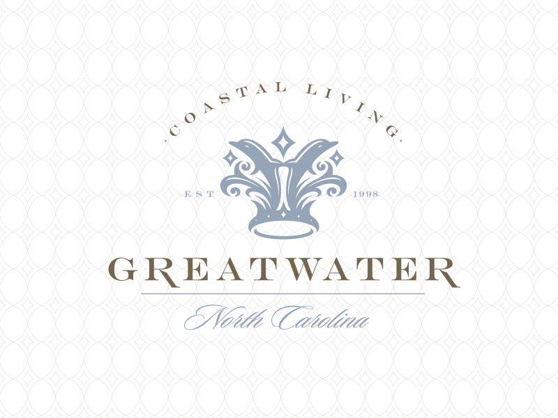 Great Water Resort Living Community Brand Mark Type