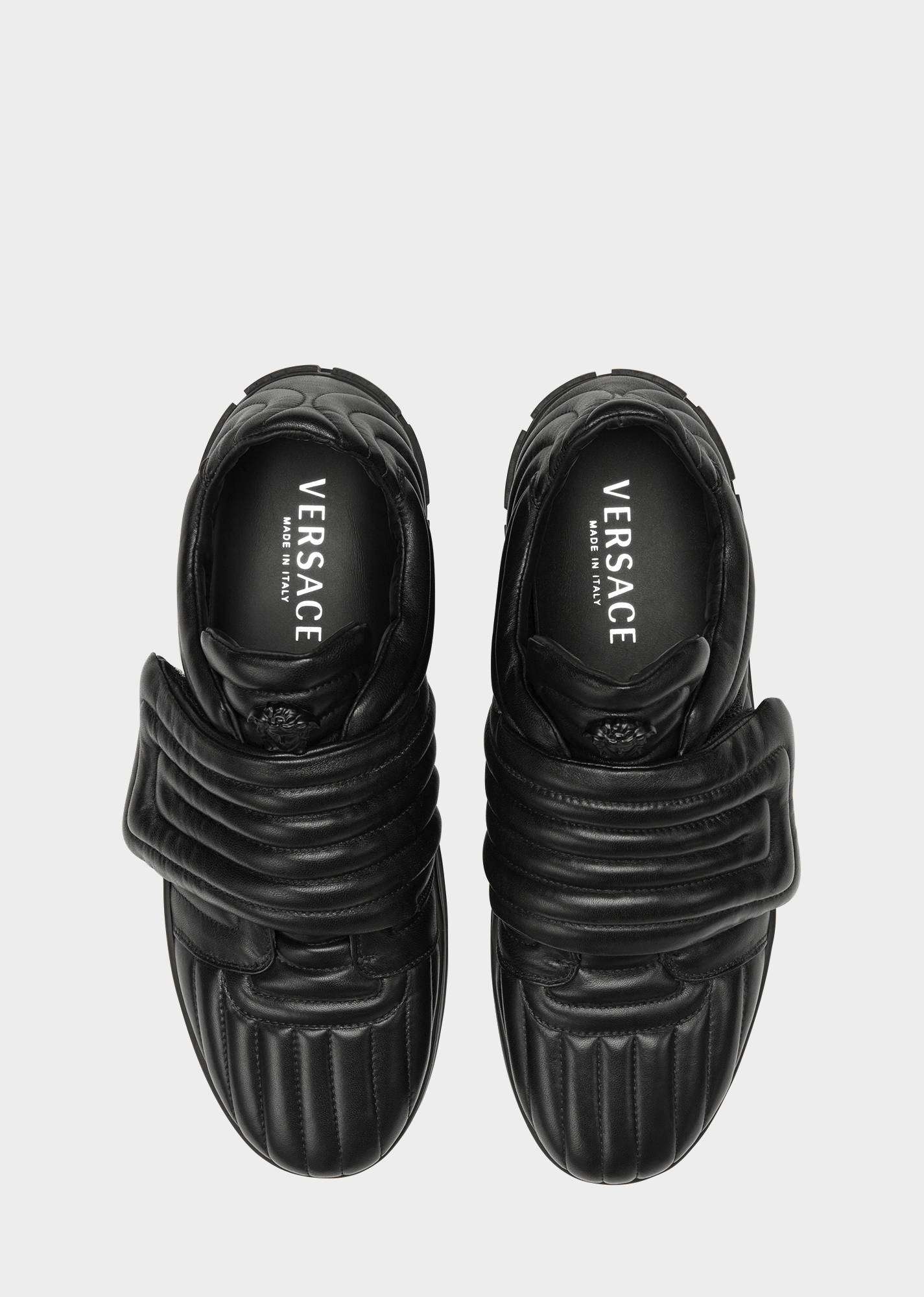 Sneaker trapuntate con Chiave Greca - D41 Sneakers