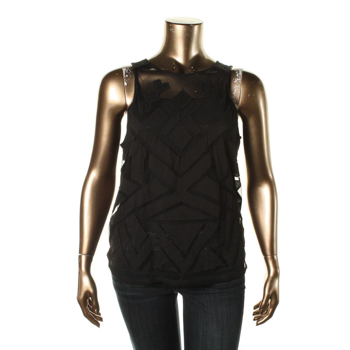 Lucky Brand Womens Modal Blend Applique Tank Top