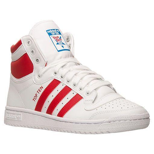 adidas Originals Top New Ten Hi Mens C75322 White Collegiate Red Size US  Size 10.5 Shoes