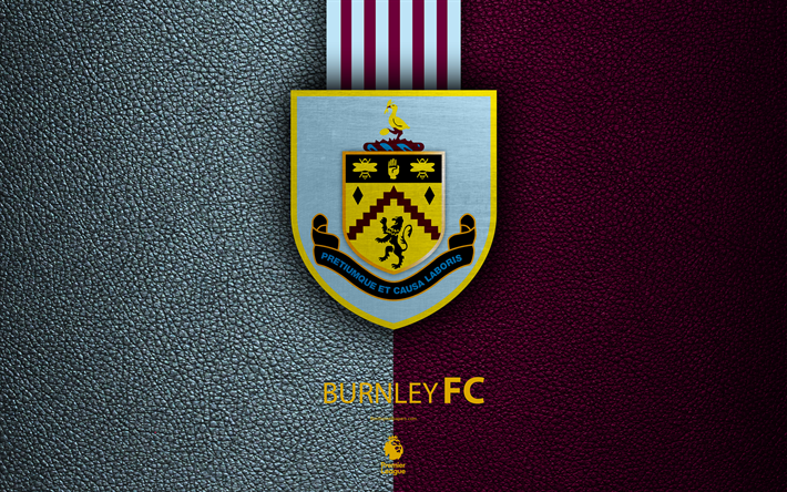 Download Wallpapers Burnley Fc 4k English Football Club Leather Texture Premier League Logo