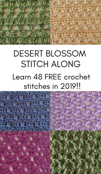 48 FREE Crochet Stitches—Join the Desert Blossom Stitch Along!