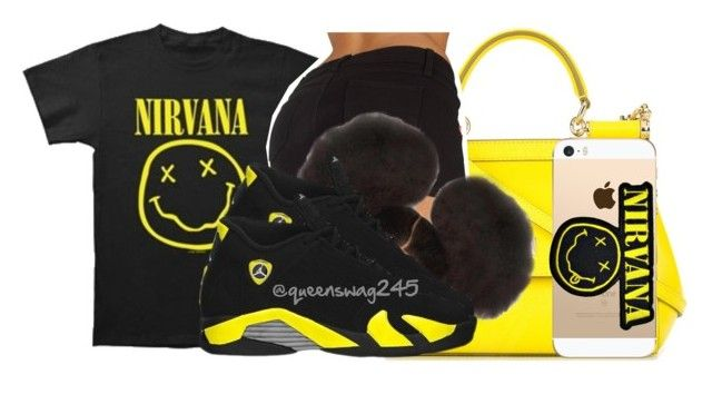 """Nirvana x Smells Like Teenage Sprit"" by queenswag245 ❤ liked on Polyvore featuring Dolce&Gabbana and Retrò"