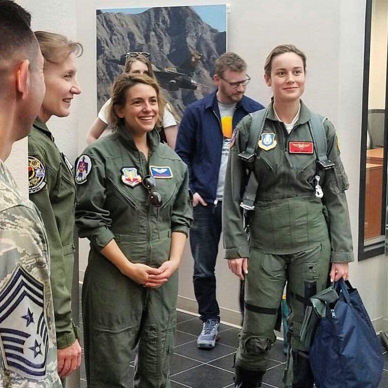 Brie Larson met with General Jeannie M. Leavitt the US Air