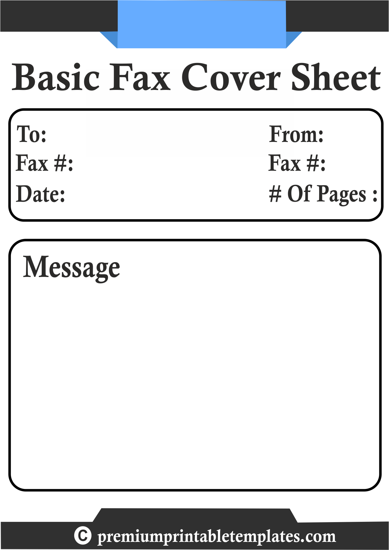 Fax Cover Sheets Templates A Fax Cover Sheet Is An Attached Document Which Is Sent To Your Fax .