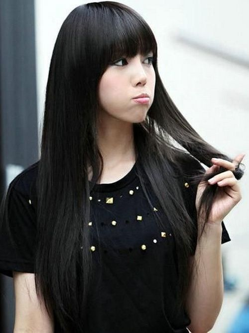 Asian Girl With Long Hair