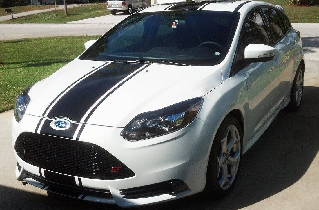 Front To Back Stripe Kit Decal Sticker Graphic Compatible With Ford Focus St Rs Sel 2011 2016 Ford Focus Stripe Kit Ford Focus Rs