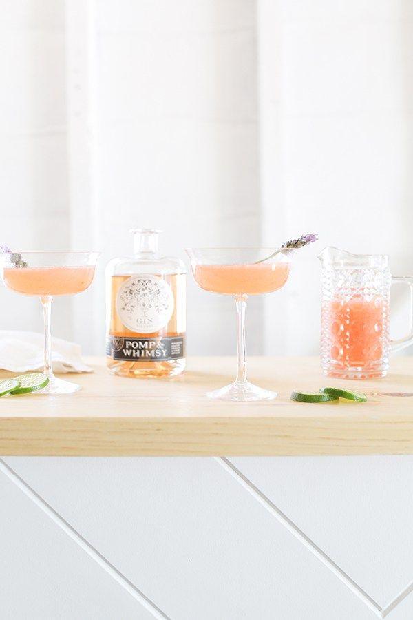 Whippet Cocktail with Pomp // Charming Cocktails // Pink Cocktails // Floral Cocktails