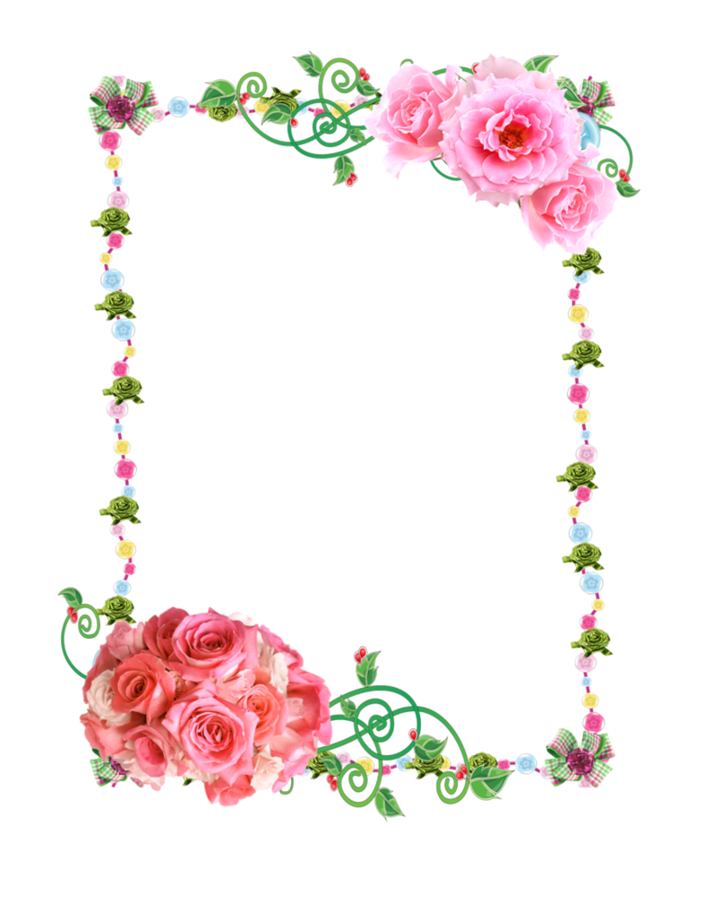 Frame Png With Roses Flower Frame Free Clip Art Heart Frame