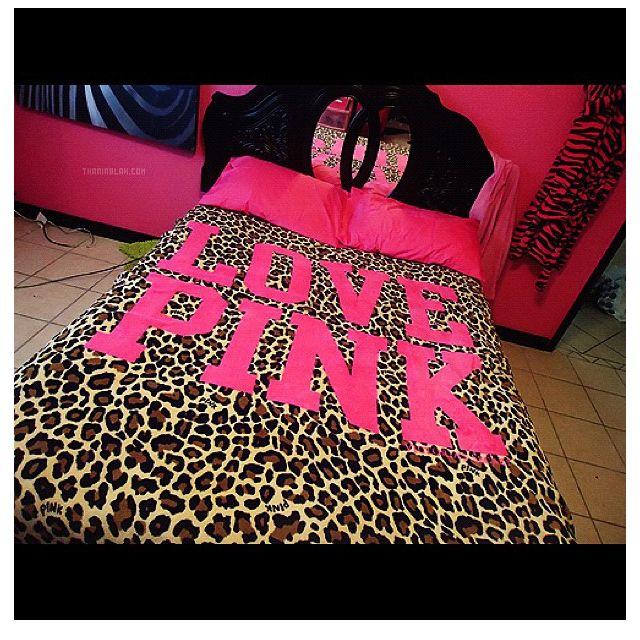 love pink cheetah bedspread future home pinterest