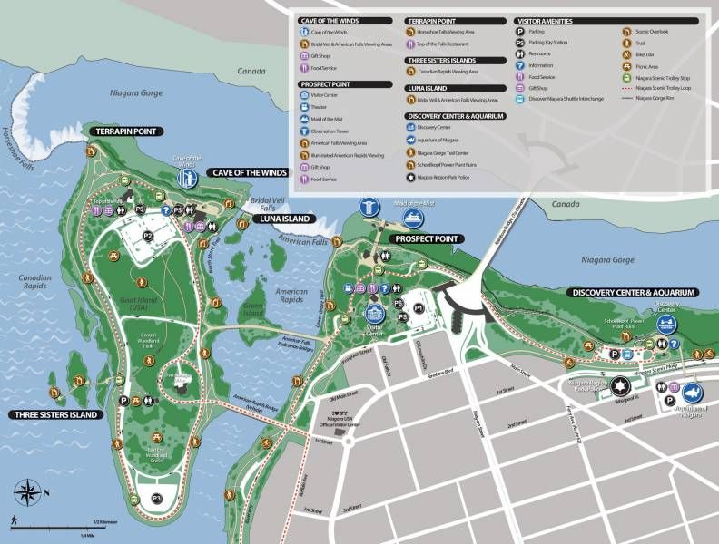 Niagara Falls State Park Map Easy Download For Travelers