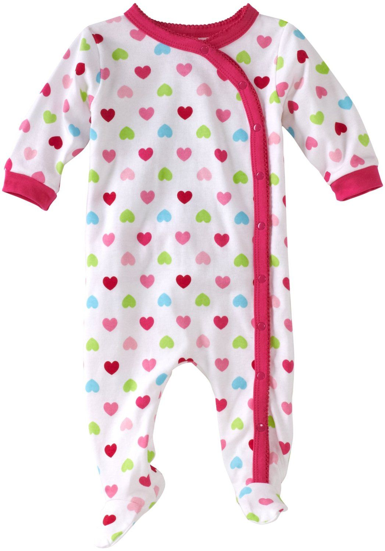 d8d5ec9f2233 Gerber Baby-Girls Newborn 1 Pack Hearts Side-Snap Bodysuit -  10.49 ...