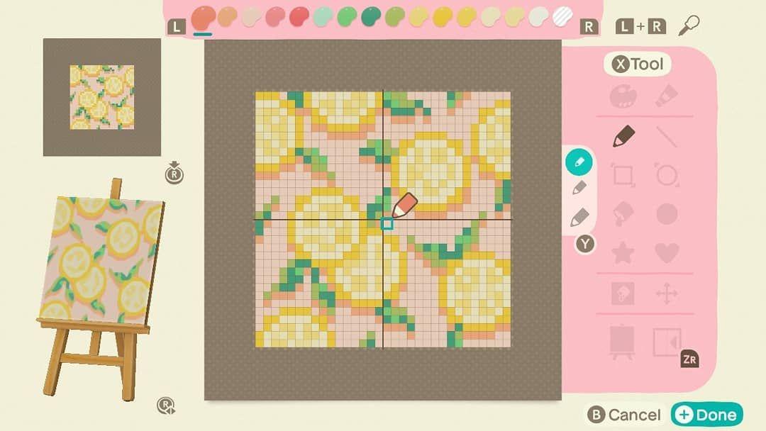 Animal Crossing Custom Designs On Instagram Lemon Design By Nicorinpan On Twitter Animalcross Animal Crossing 3ds Animal Crossing Animal Crossing Guide