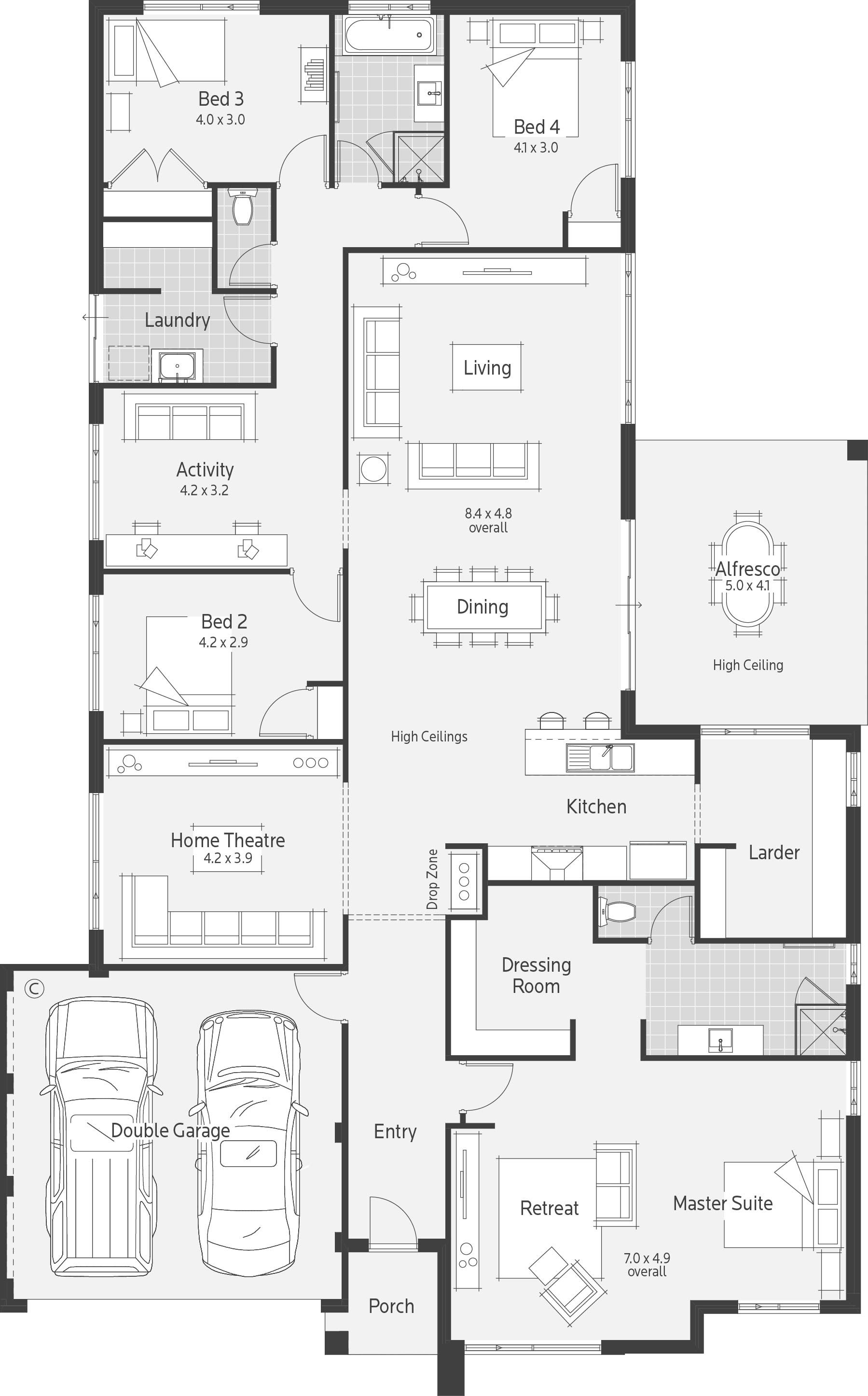 Pin By Whimsical Home And Garden On Investment Property Floor Plan Design Kitchen Floor Plans House Plans