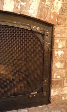 Wrought Iron Gusset Corner Accents In 2019 Fireplace