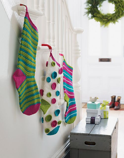9 Crochet Stocking Patterns in Christmas Crochet for Hearth, Home ...